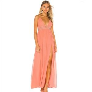 NWT NBD Giavanna Gown in Sorbet Pink
